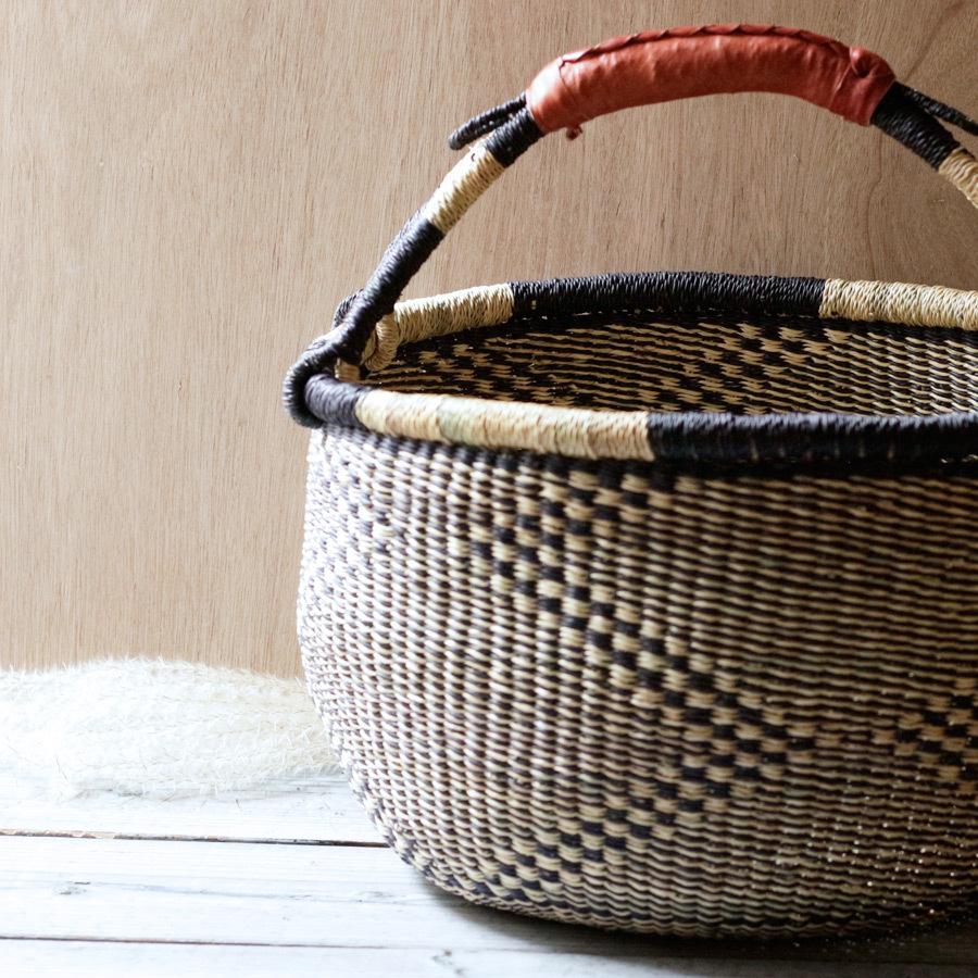 ガーナの手編み ボルガバスケット / 大 1