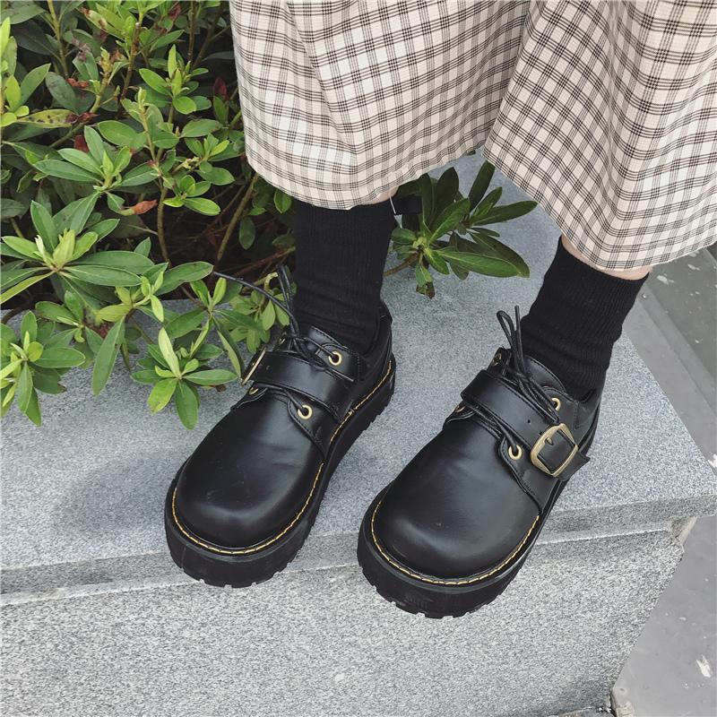 【shoes】レトロソリッドカラーパンプス14922708