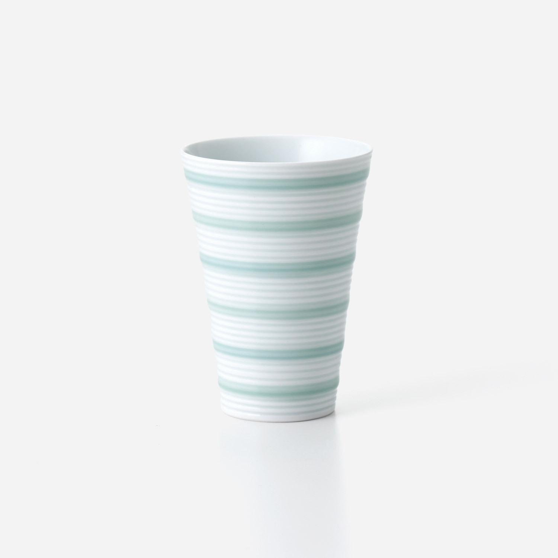 青磁千段 フリーカップ (小)