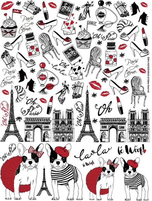 Paris パリス A4サイズ(ポーセリンアート用転写紙)