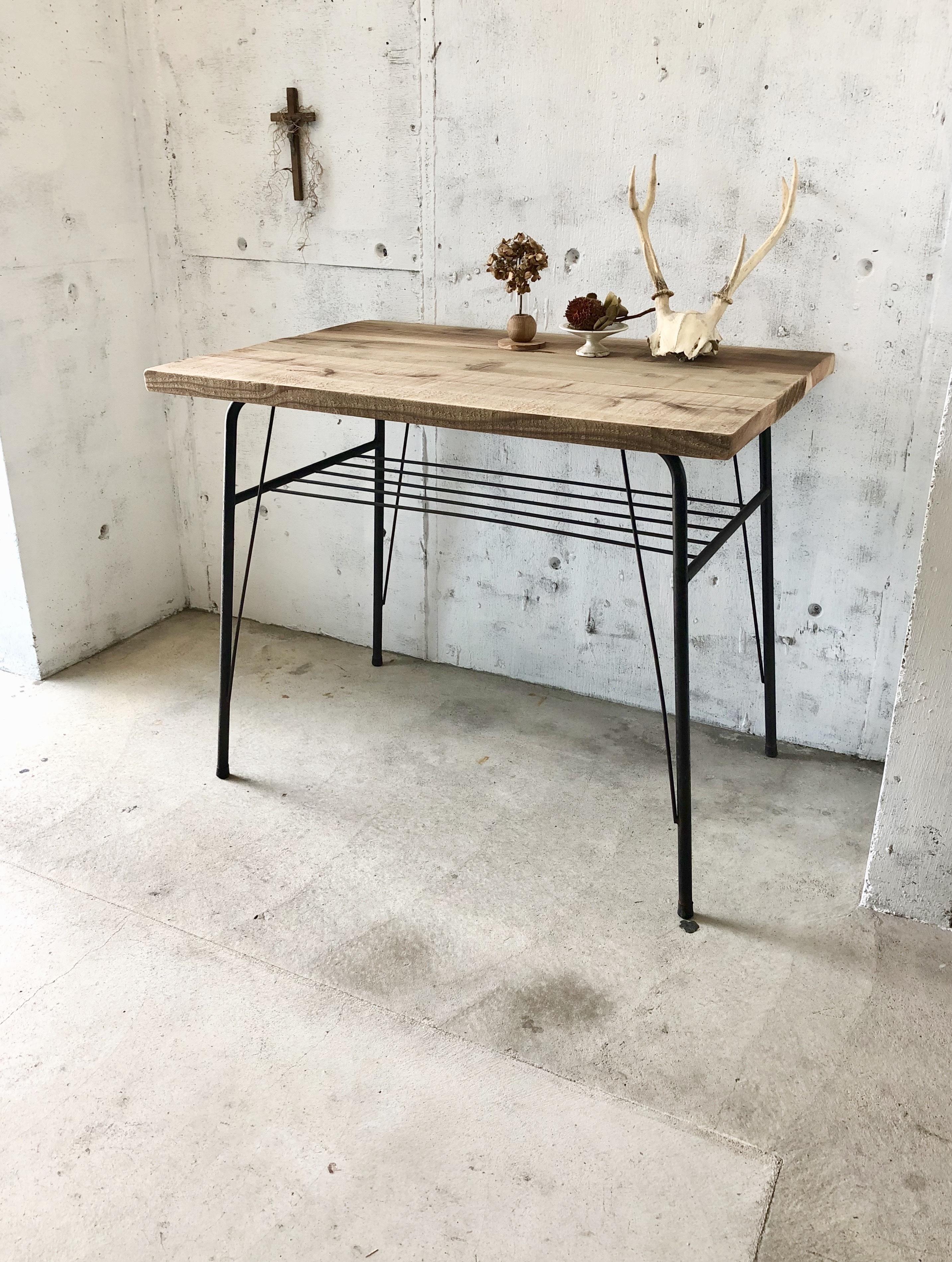 古材×サビ脚のテーブル[古家具]