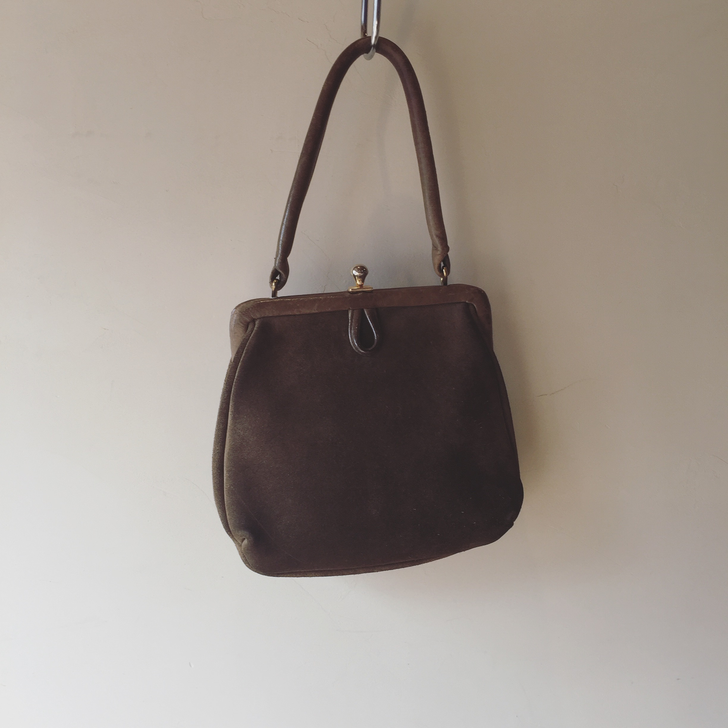 vintage 50s leather bag
