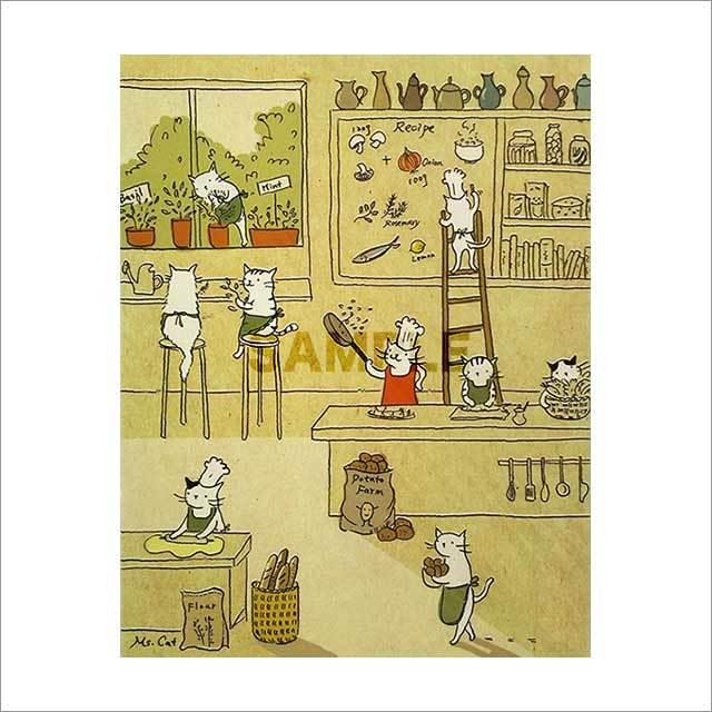 台湾ポストカード「猫咪厨房」