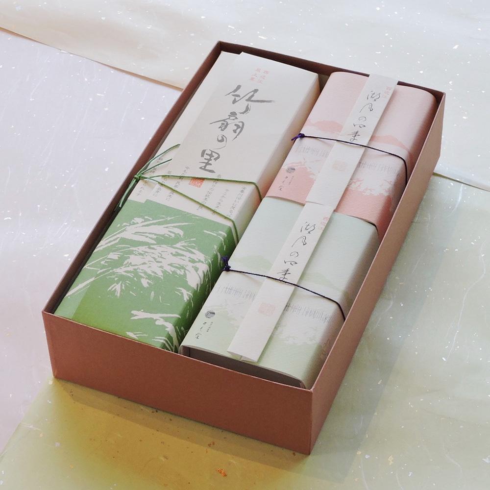 西近江棹菓子〈竹扇の里・半棹菓子二種〉