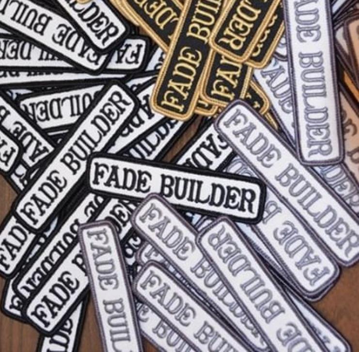 【ラス1になりました】FADE BUILDERワッペン ホワイトxブラック