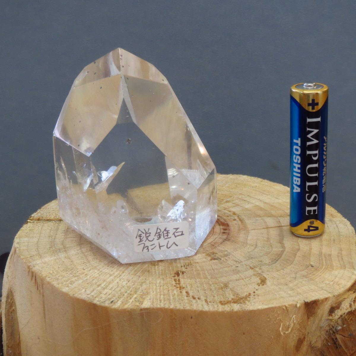 アナテース(鋭錐石)入り水晶