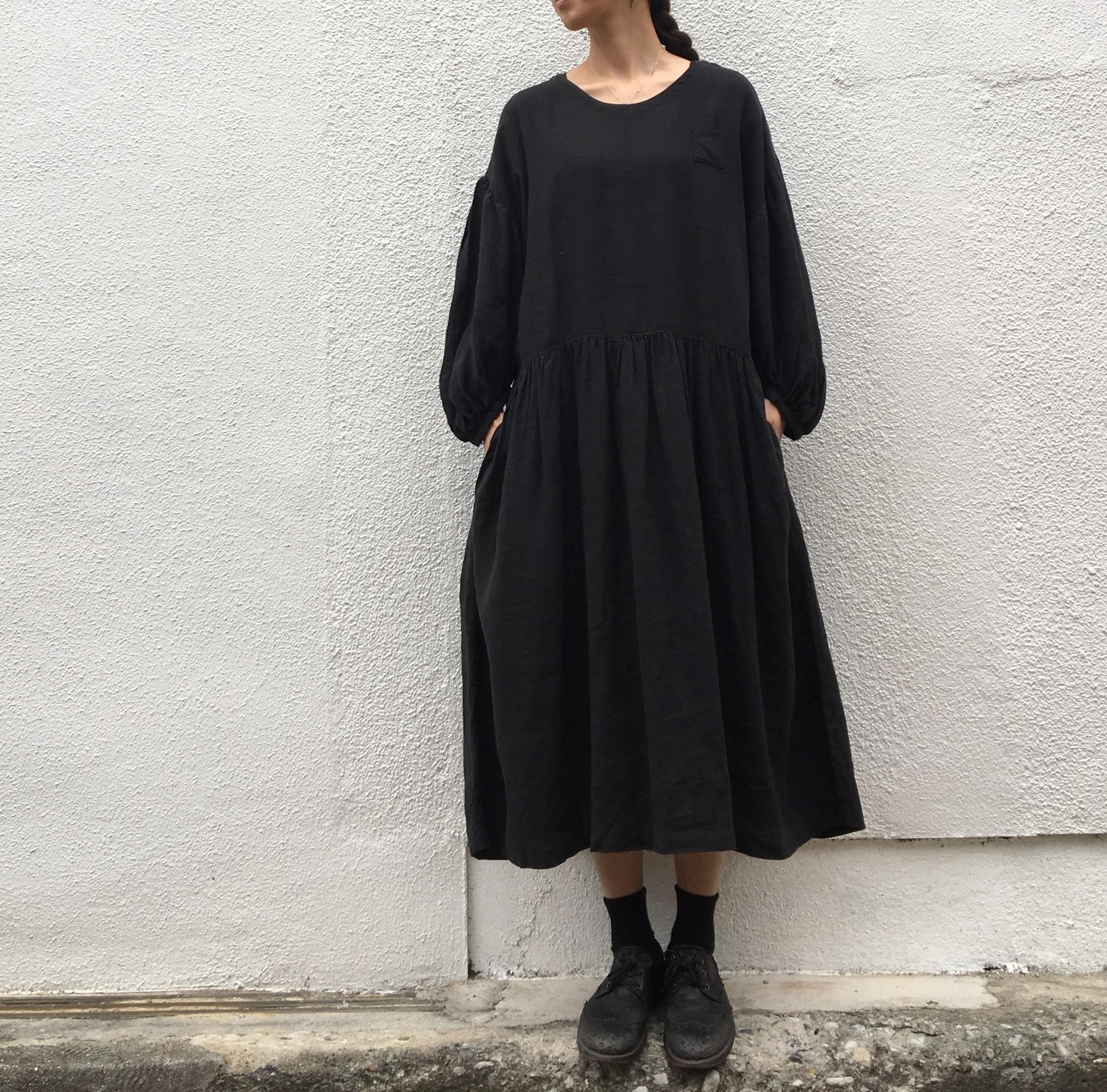 AN Linen BALワンピース ブラック