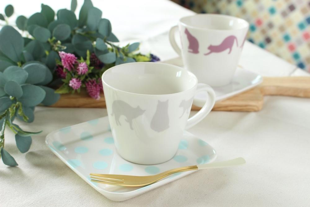 猫カフェ*カフェセット(マグカップ・プレート)