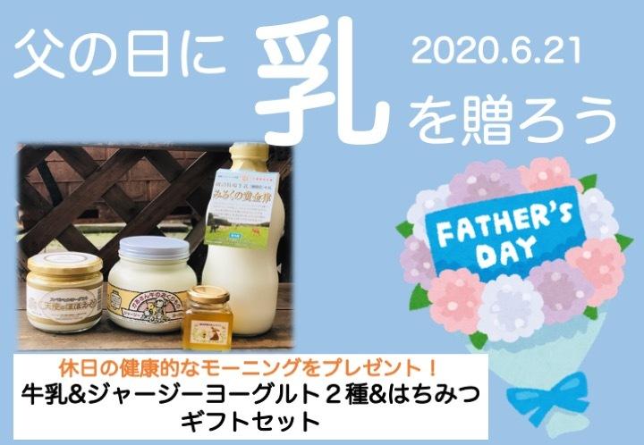 【父の日おすすめギフトB】みるくの黄金律&ヨーグルト2種+里山はちみつ