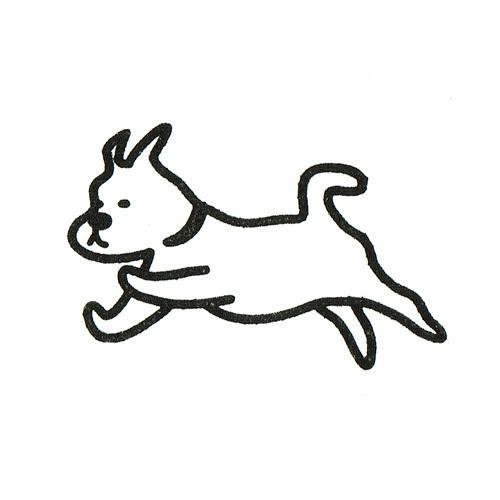 ゴム印 DOG RUN
