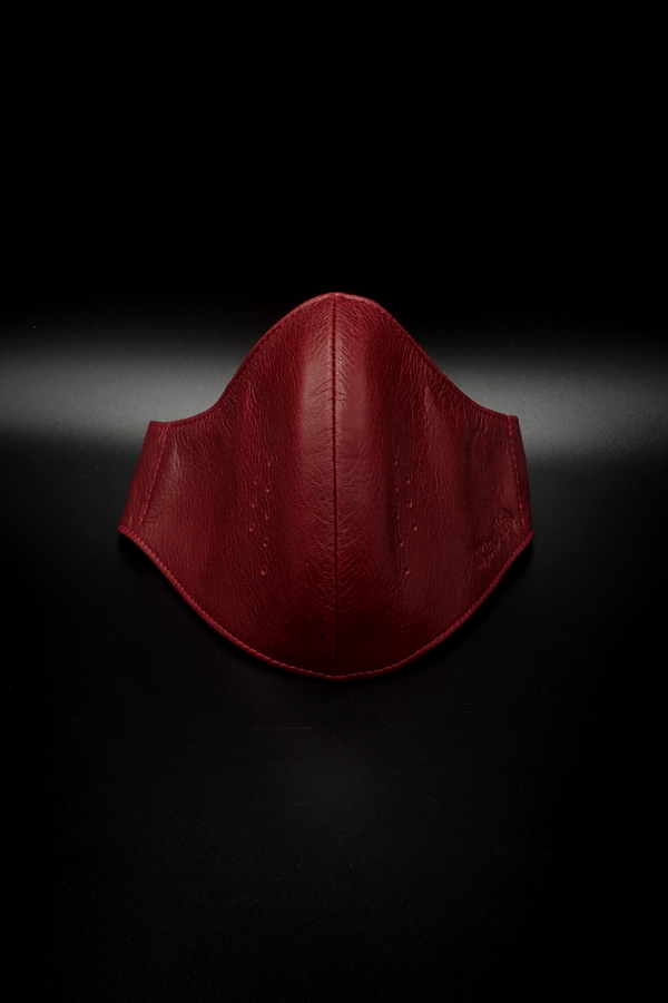 Item No.0377:RH Smooth Back Leather Surgical Mask/Crimson Red