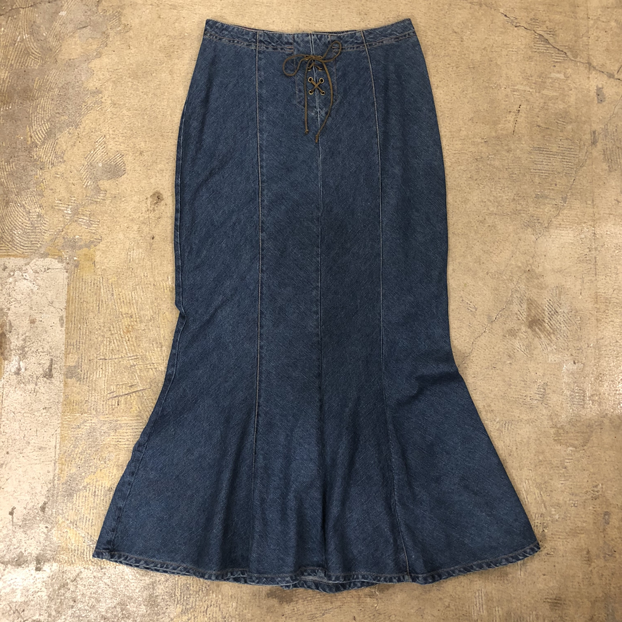 Faded Glory Denim Flare Long Skirt ¥5,900+tax