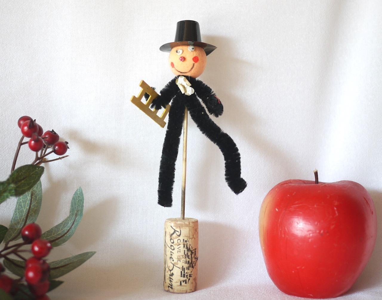 モール人形 梯子をかかえた煙突掃除屋さん ピック
