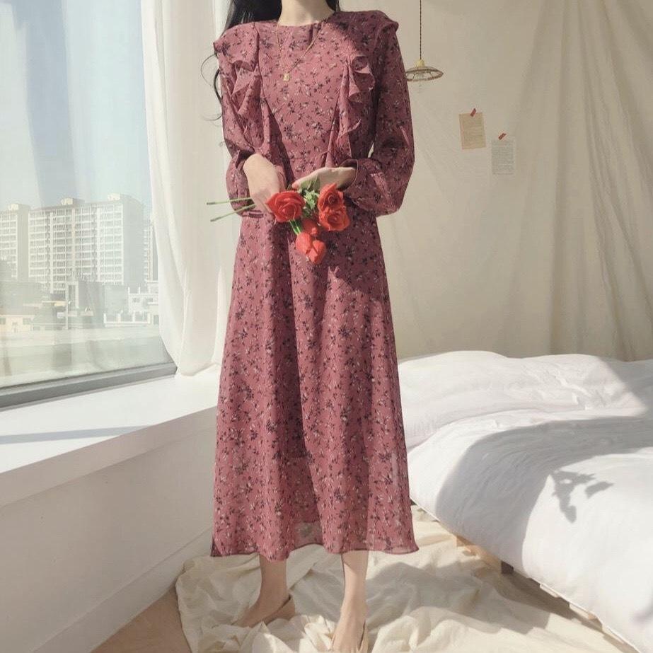 ローブシフォンファムドレス