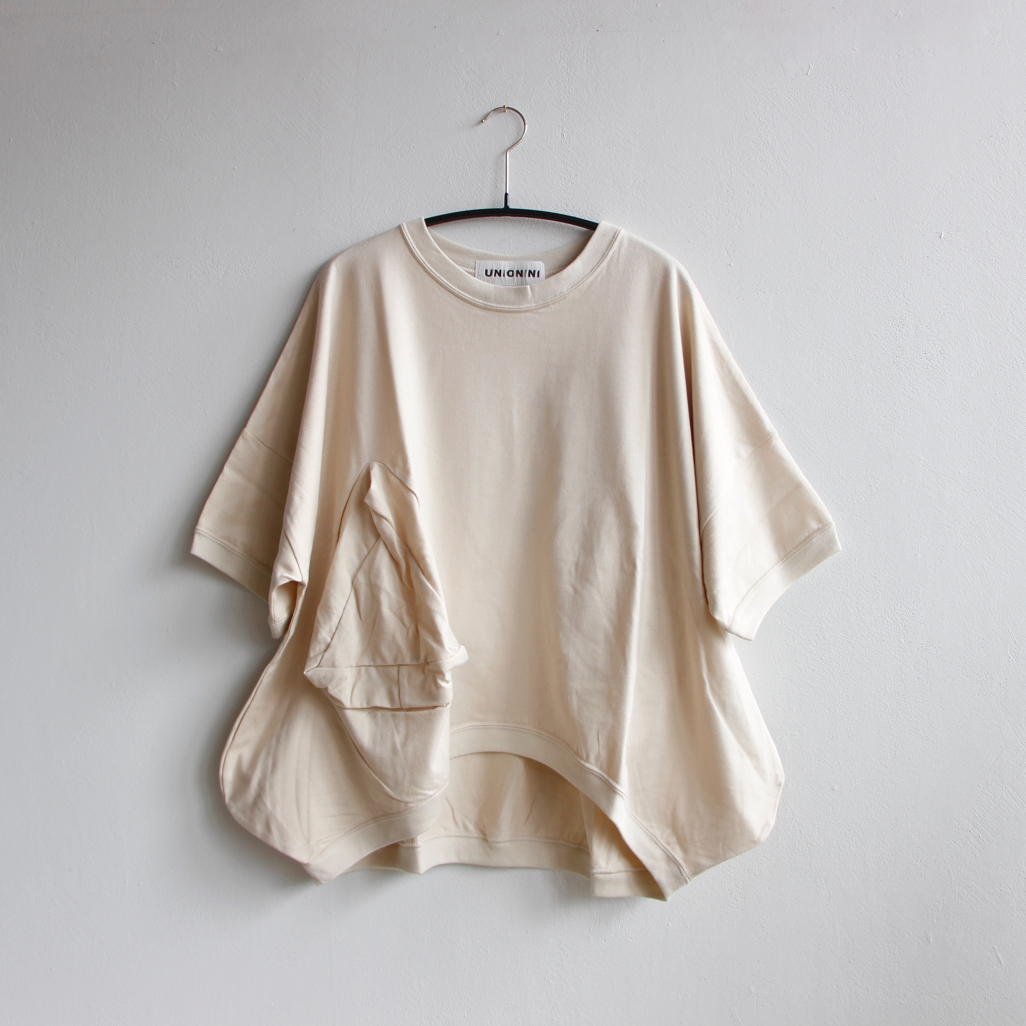 《UNIONINI 2020SS》◯△ T-shirt / ecru / 12-14Y・M(大人)