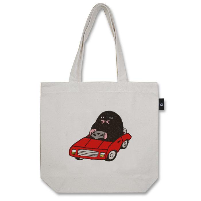 もぐらのおぐらさん スーパーカー トートバッグ (M:内ポケット付き)品番:aco-m-03
