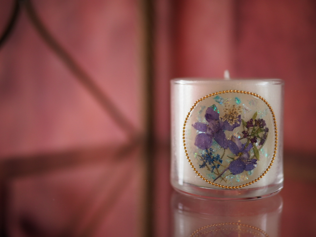 Pressed Flowers Candle 8