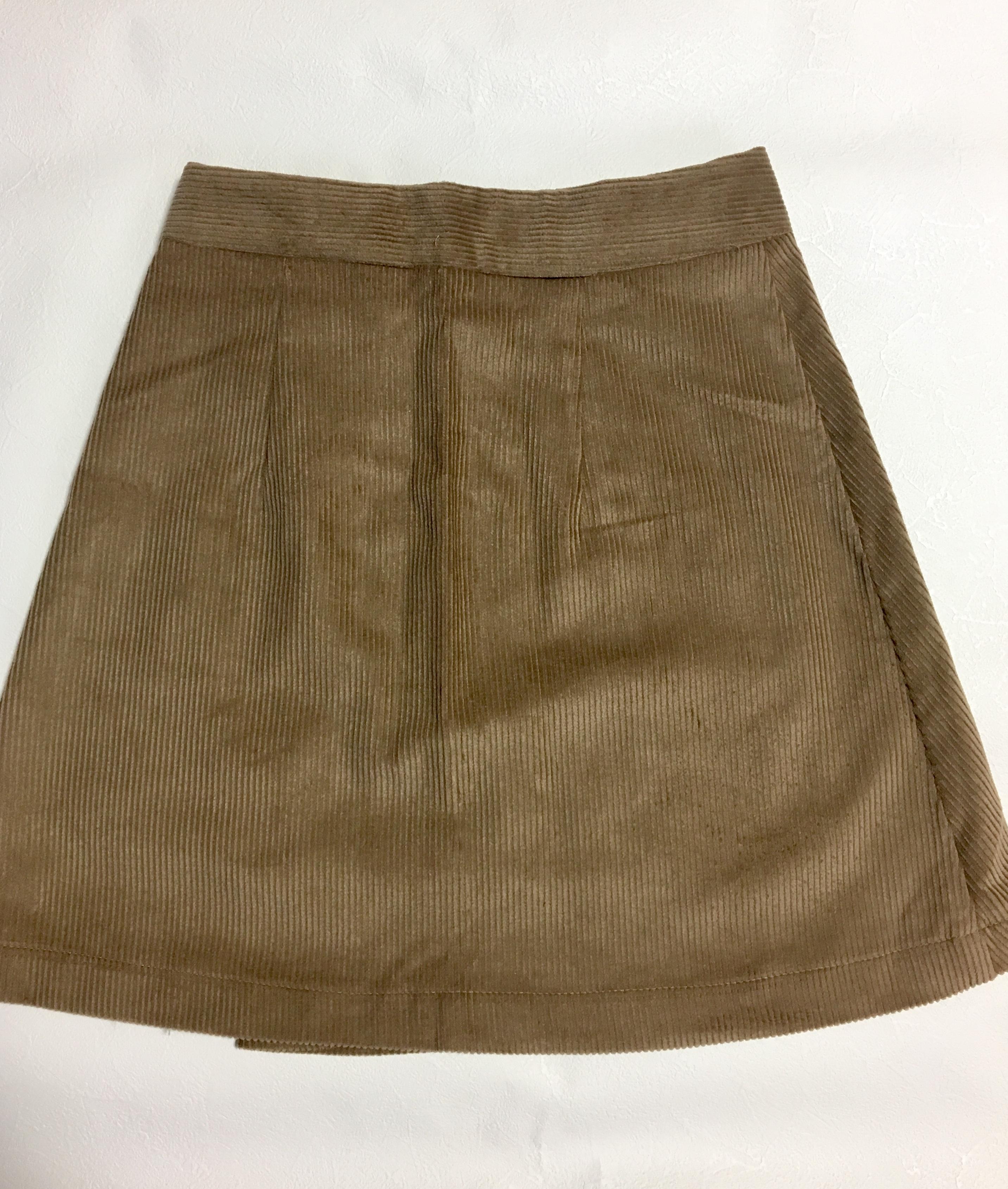 Corduroy wrap skirt