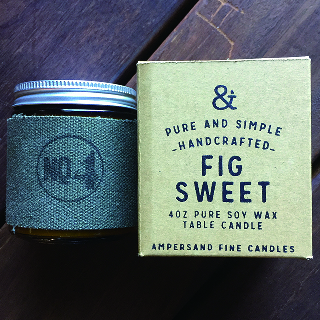4oz Amber Jar Candle -FIG SWEET- キャンドル Candles - 画像1
