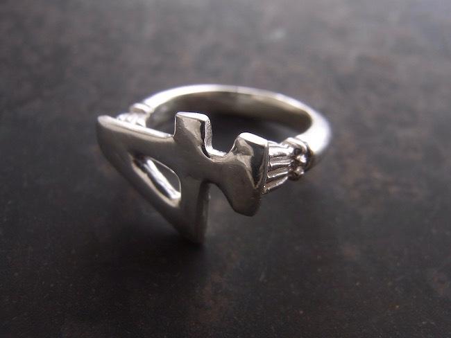 Numero Pinky Ring/数字4のピンキーリング/S