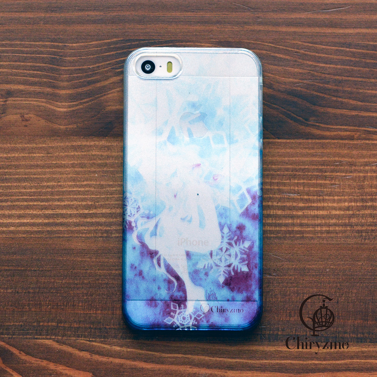 【BASE店限定】アイフォンse ケース クリア iPhoneSE クリアケース キラキラ 大人可愛い 花 むつのはな/Chiryzmo