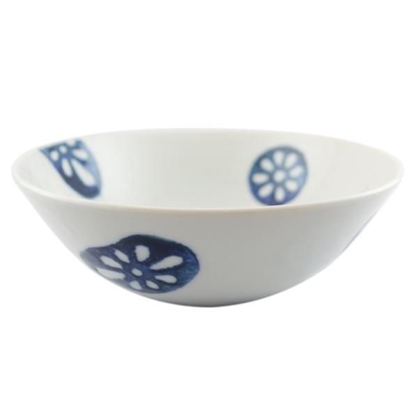 九谷青窯 印判蓮根 5寸鉢