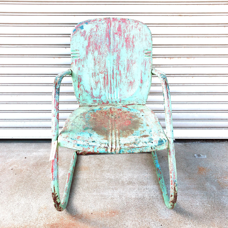 品番4509 インダストリアルチェア サックス 肘掛け付き 椅子 インテリア アンティーク