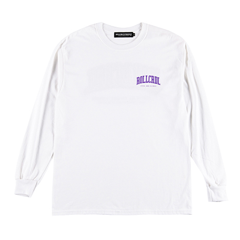 ROLLING CRADLE(ロリクレ) | RC LOGO LONG T-SHIRT -KIN ver- / White