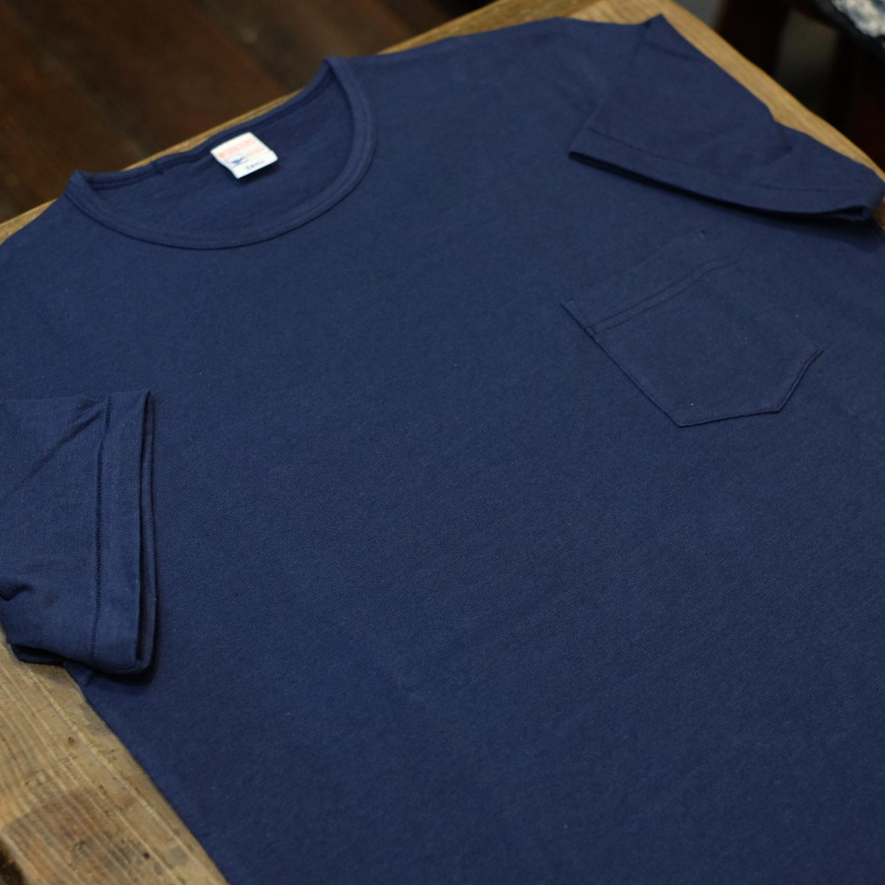 Workers(ワーカーズ) ポケットTシャツ クルーネック ネイビー