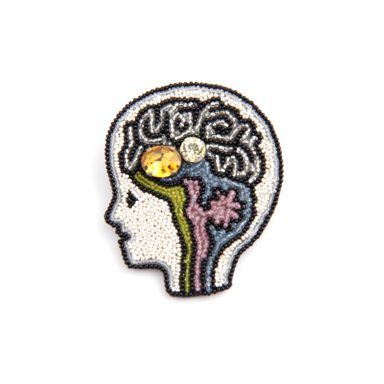 Môko Kobayashi/脳 ブローチ