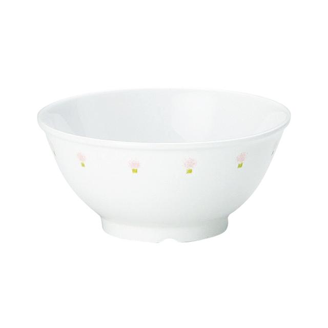 【1001-1060】強化磁器 10.5cm こども茶碗 花の冠(ピンク)