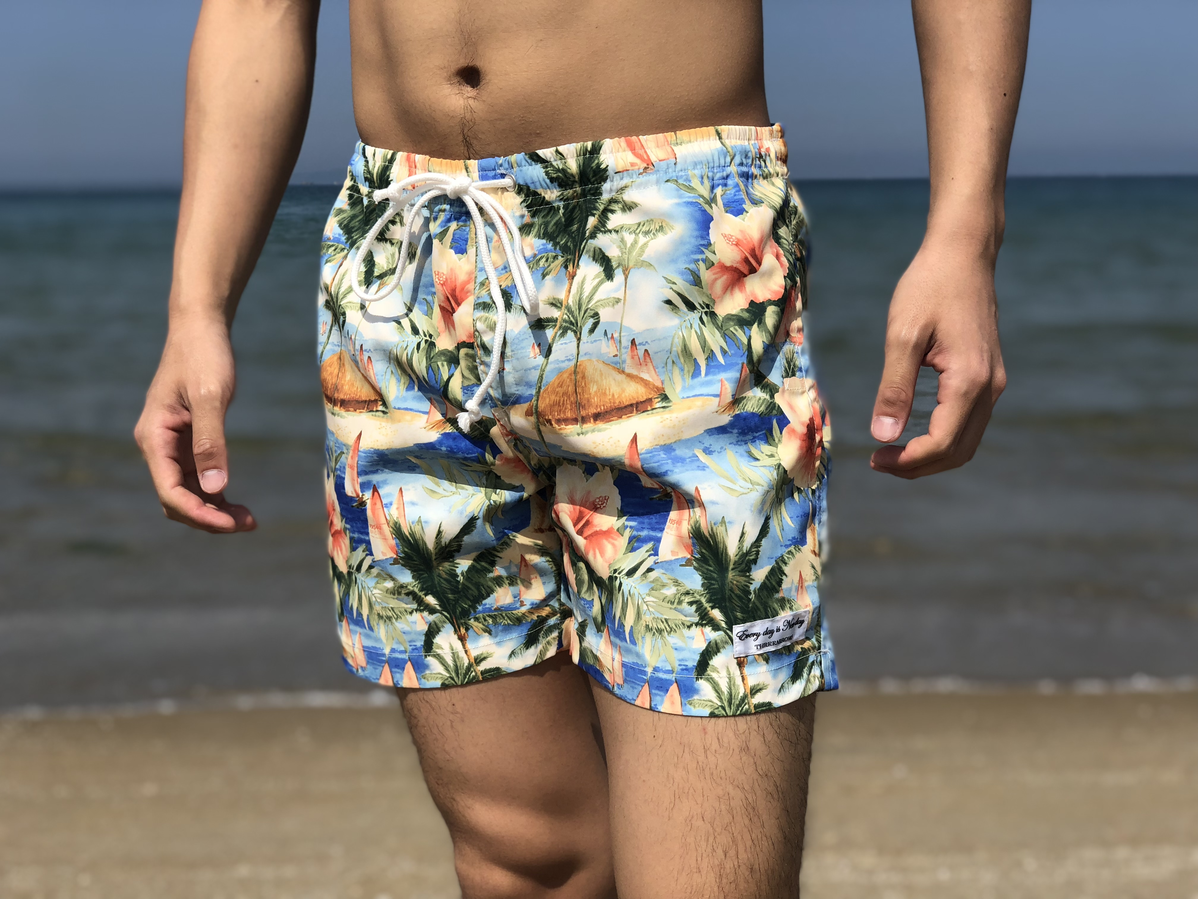 ThreeArrows Print Board Shorts(aloha)