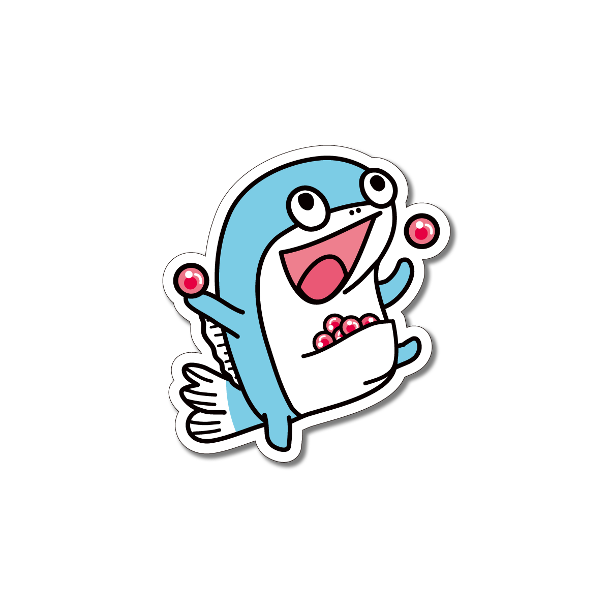 コイス ステッカー (魚卵持ち上げ)