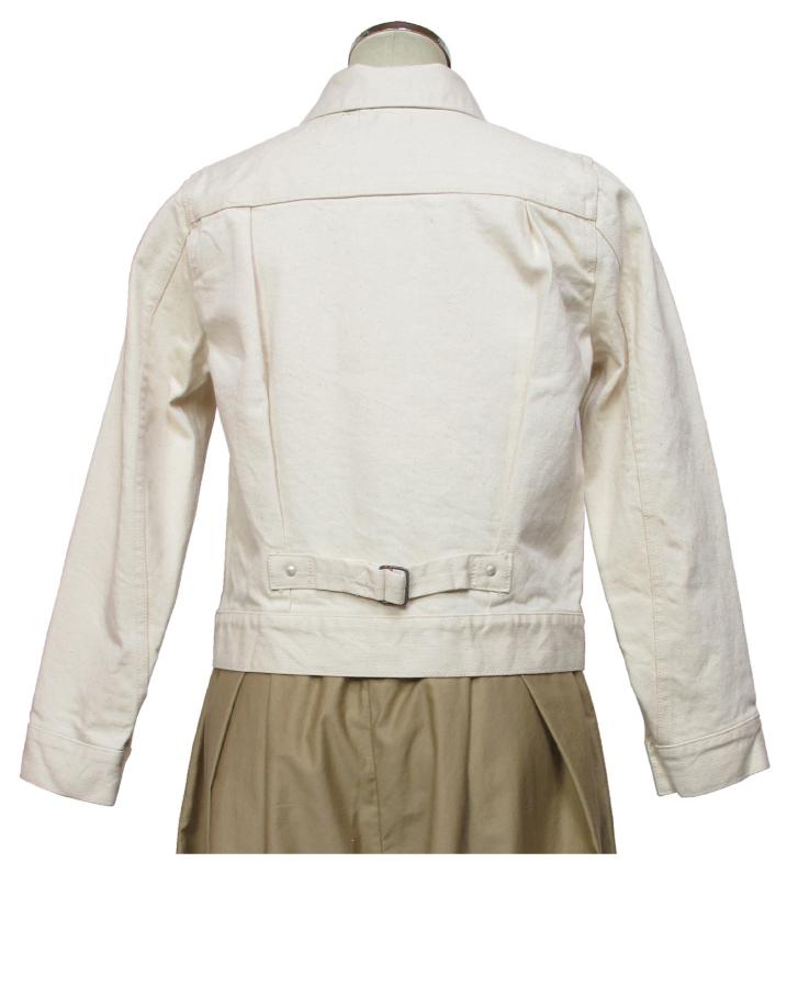 modern jacket type2nd. ecru Lot:00702 - 画像3