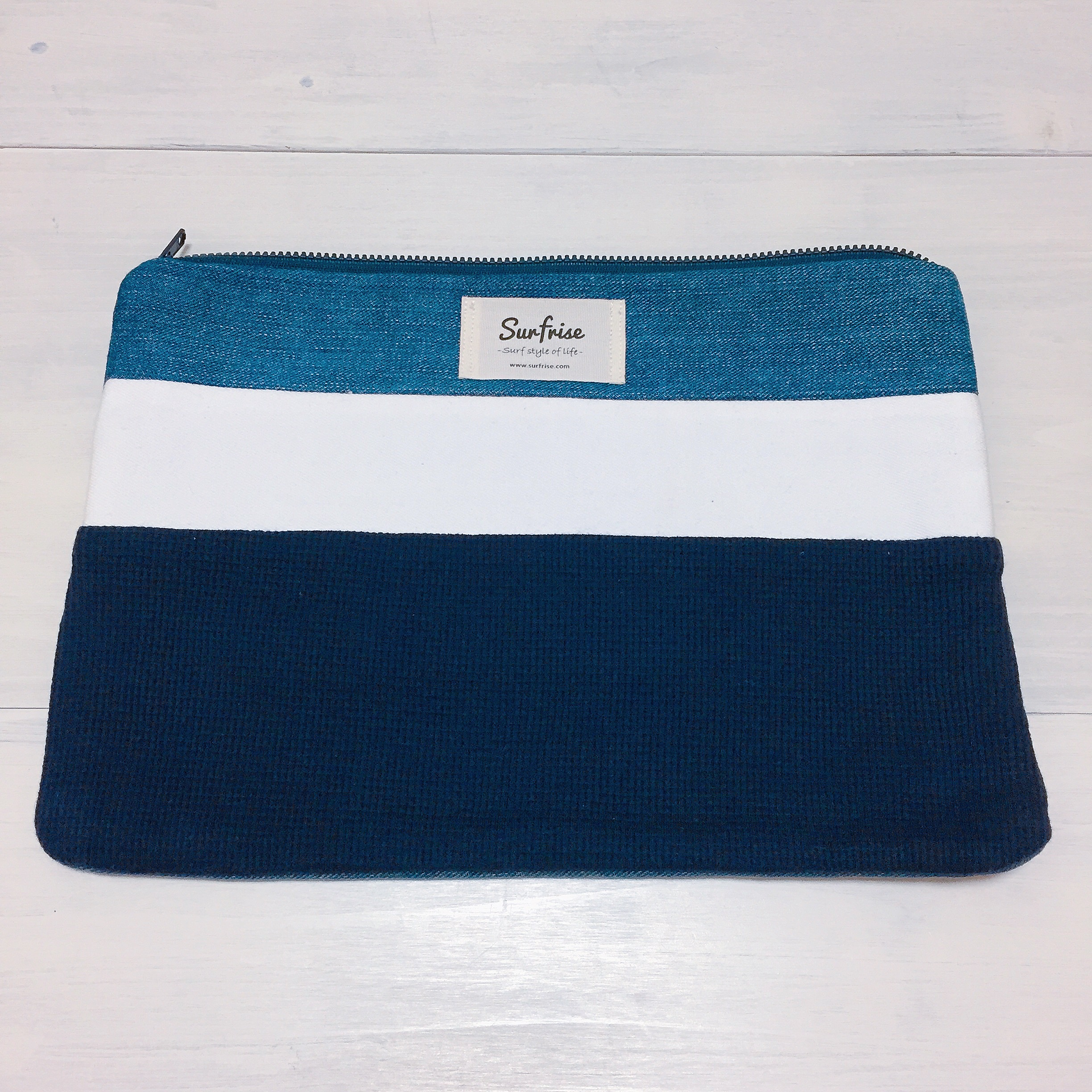 Denim clutch bag R29(Navy)