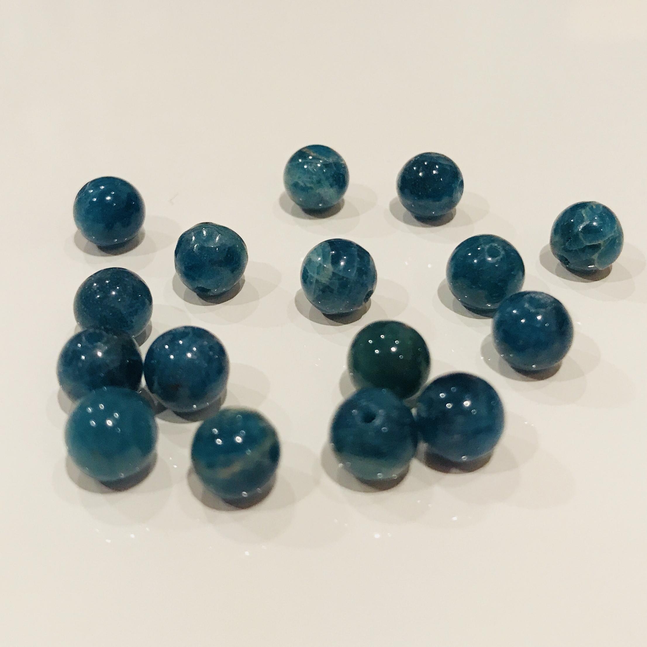 癒しの石|ブルーアパタイト 6mm玉