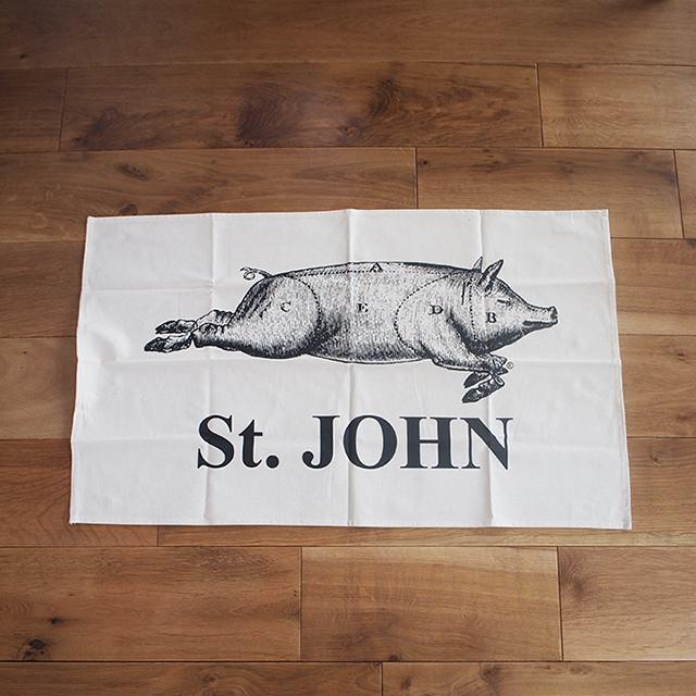 【イギリス】 St. JOHN(セントジョン) ブタ柄 ティータオル(B) キッチンタオル