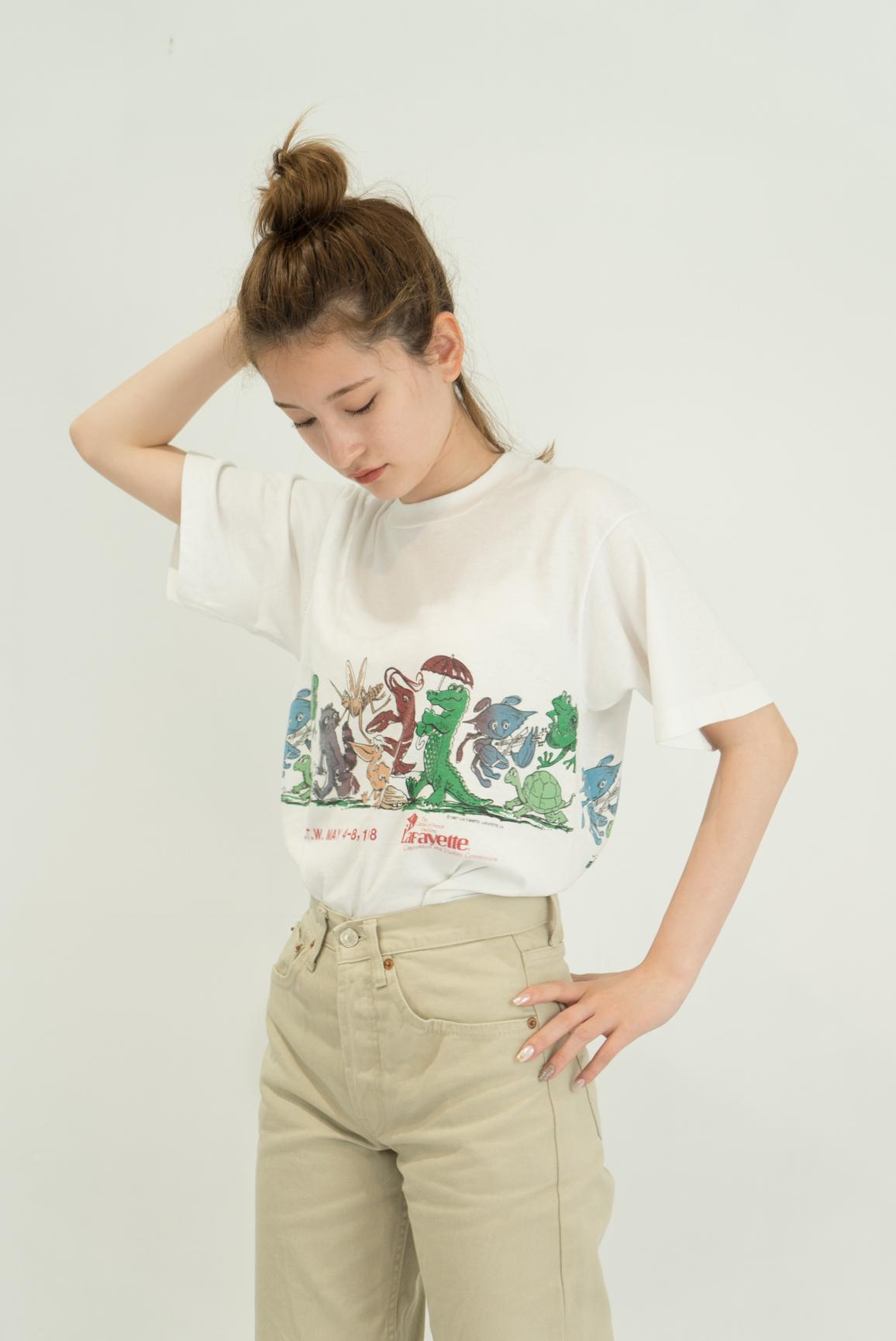 ◼︎'87 vintage Lafayette foodstuff T-shirts from U.S.A.◼︎
