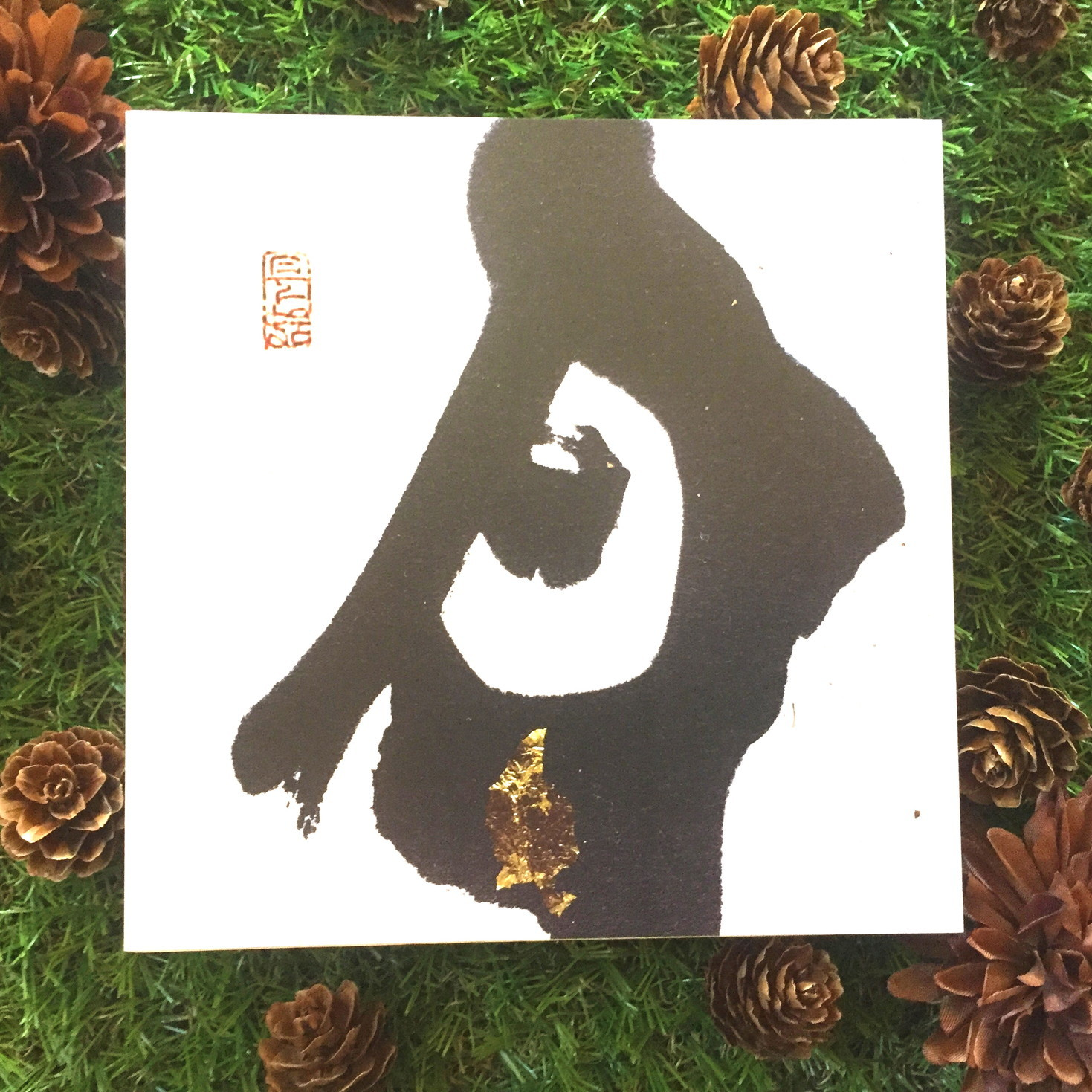 絵画 インテリア アートパネル 雑貨 壁掛け 置物 おしゃれ 和風アート 和 水彩画 染色画 アクリル画 ロココロ 画家 : 中島月下村 作品 : 月