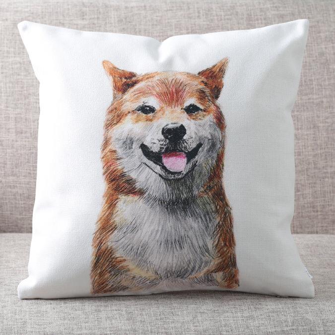 クッションカバー 柴犬