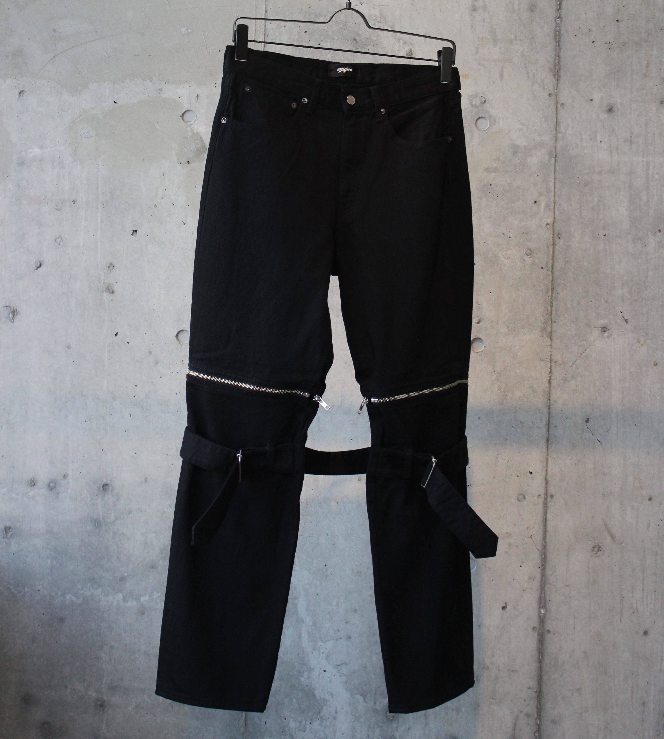 DENIM BONTAGE PANTS / BLACK - 画像1