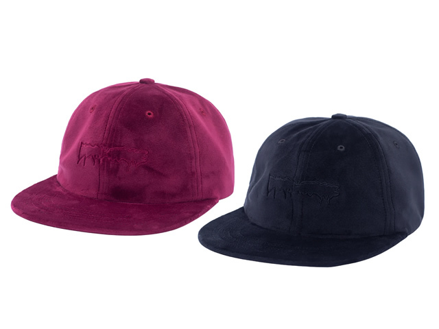 Fucking Awesome|Outline Drip Unstructured Velvet Strap Back