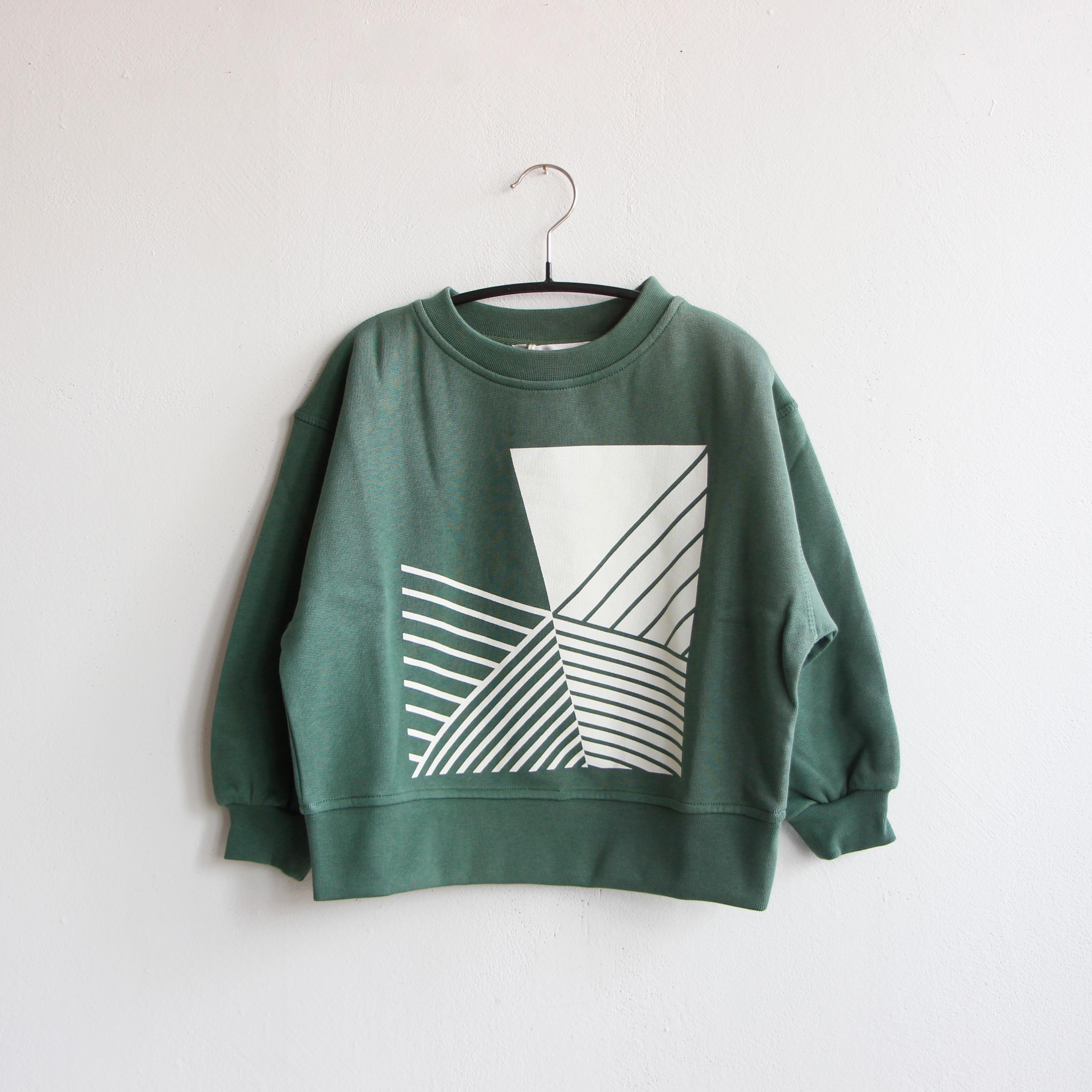 《main story 2020AW》Oversized Sweatshirt / duck green