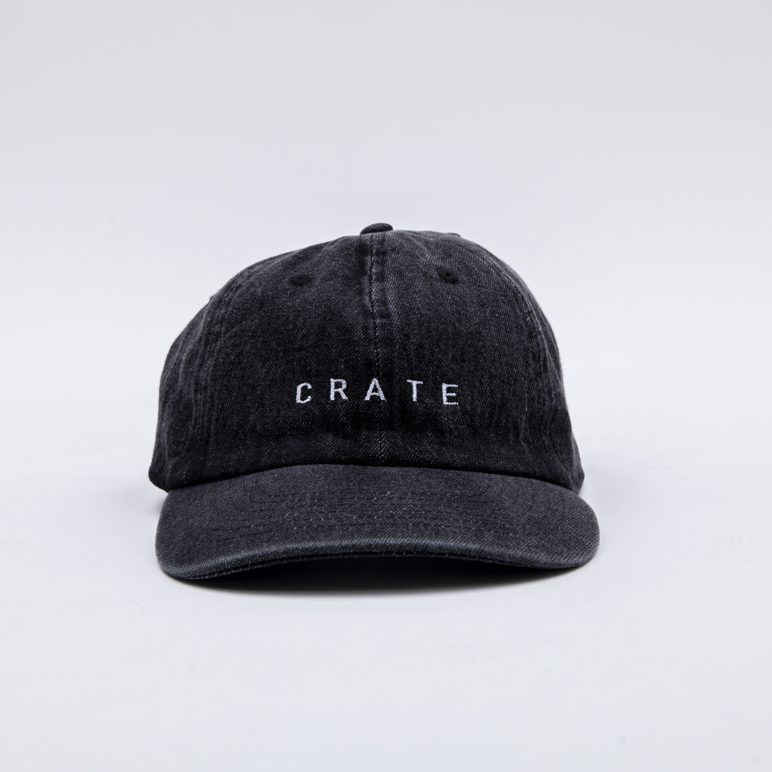 CRATE BLACK DENIM CAP