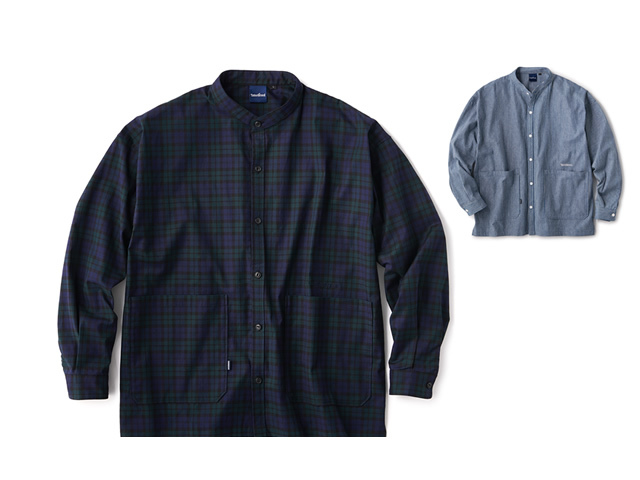 INTERBREED|Patterned Stand Collar Shirts