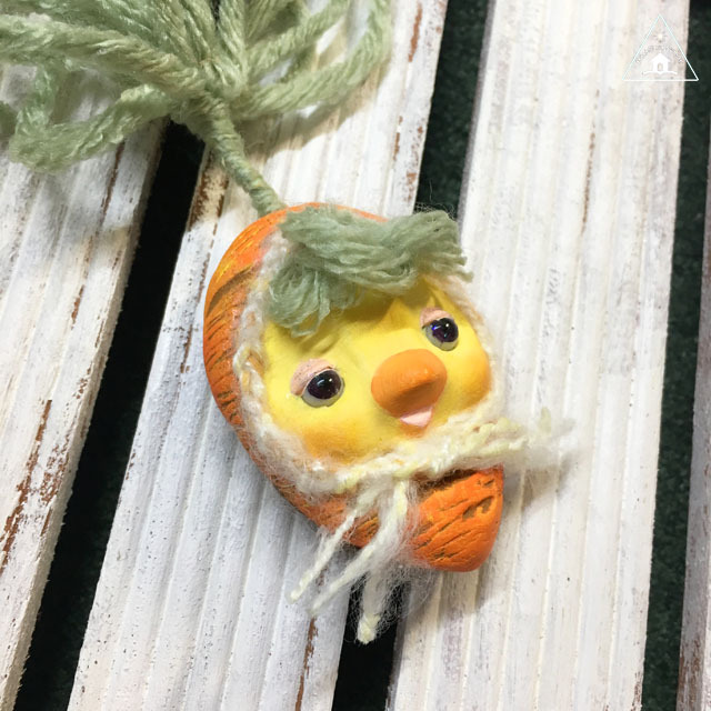 お野菜ちゃんブローチ(にんじんちゃん2)