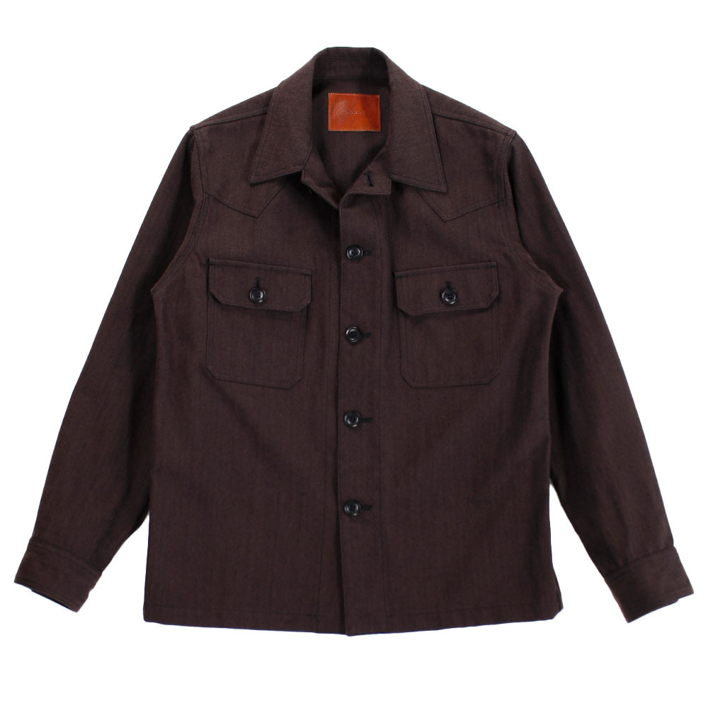 THE LETTERS Brown Shirt Jacket