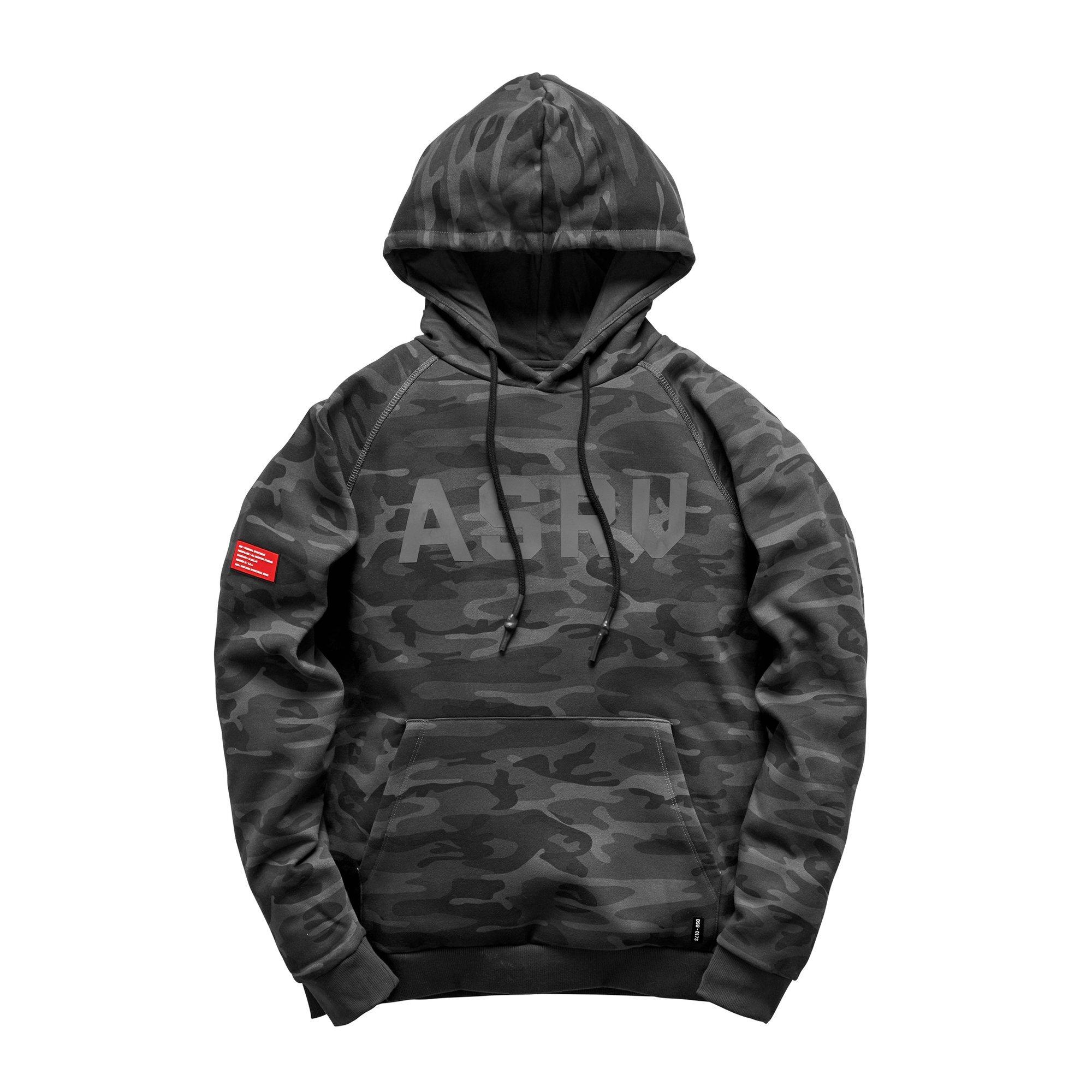 【ASRV】RainPlus™エッセンシャルフリースフーディー - Black Camo