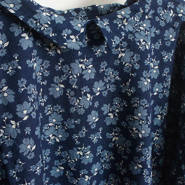 ichi イチ インディゴ花柄ブラウス インディゴ レディース ブラウス 花柄 長袖 通販 SALE セール 【返品交換不可】 (品番180712)
