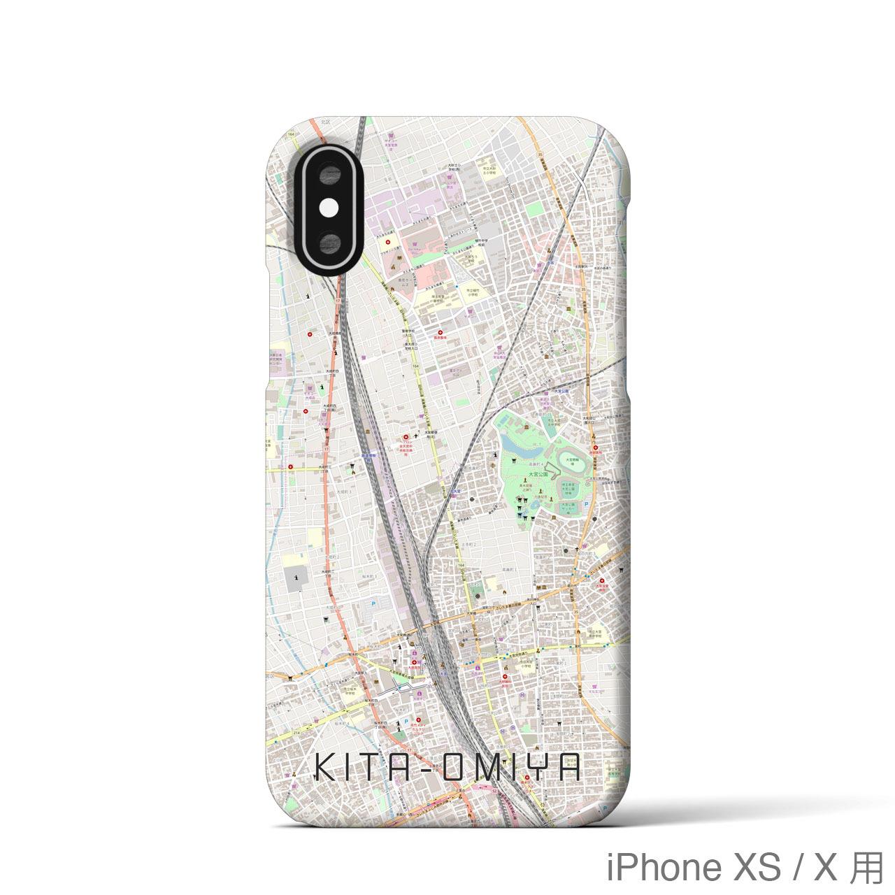 【北大宮】地図柄iPhoneケース(バックカバータイプ・ナチュラル)